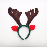 Cute Reindeer Christmas Antlers Bells Hairband Hoop HeadBand Dress Xmas Party Asst Costume Halloween Party