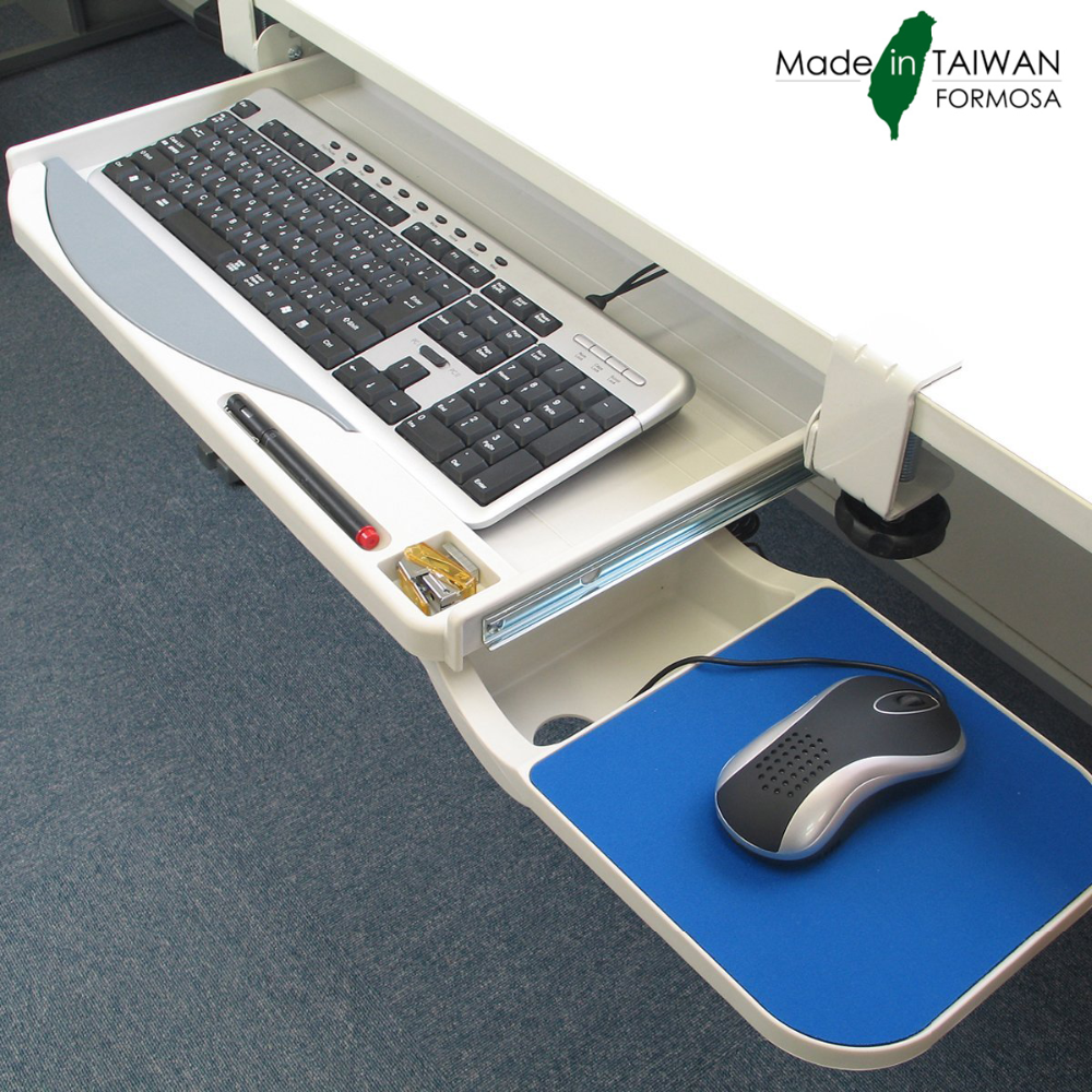 clamp design plastic diy keyboard tray with mouse tray - buy