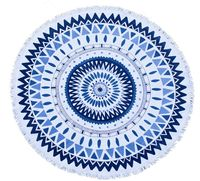 indian 100 cotton Super soft untwisted yarn Mandala design round beach towel tapestry jaipuri
