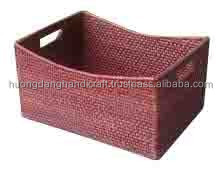 Korean young style rattan basket, beautiful handmade from Vietnam