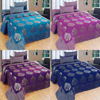 2017 hot sale new designs velvet bedding set bed cover bedding bedspread from india