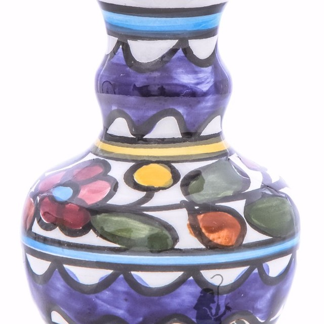 Ceramic Holy Land Souvenir Gift Israel Hand Painted Souvenir 9.5x6x6cm Zuluf TM - CER020