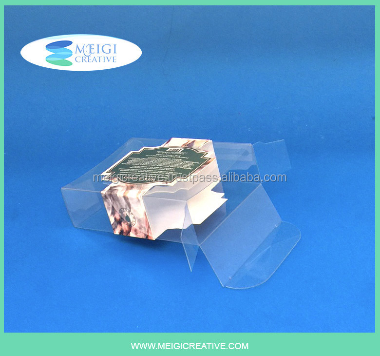 PET Plastic Tuck in Sides Folding Box with Custom Paper Sleeve Wrap, Personal Beauty Packaging
