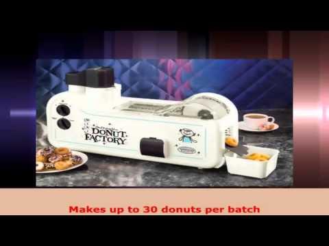 Nostalgia MDF200 Automatic Multi Color 600W Mini Donut Factory
