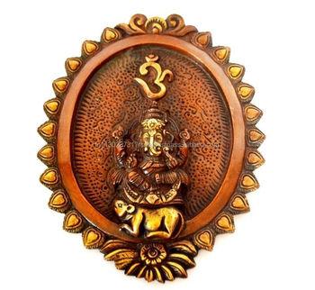 Ganesh Wall Art wall metal hanging ganesha wall mount brass lord god ganesh figure