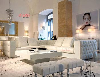 Neue Moderne Stil Leder Chesterfield Sofa Set Design Niedrigen Preis