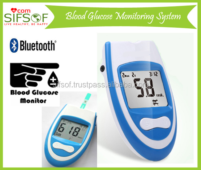 Glucose Meter With Bluetooth Function, Accurate & Quick Testing Blood Glucose Monitoring System, 8 Seconds Testing, SIFGLUCO-2.2