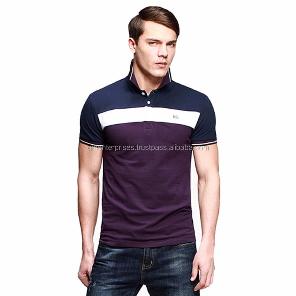 Shirt design new look - 2017 Polo Shirt With Pu Panel New Look Polo Shirt With Pu Panel High