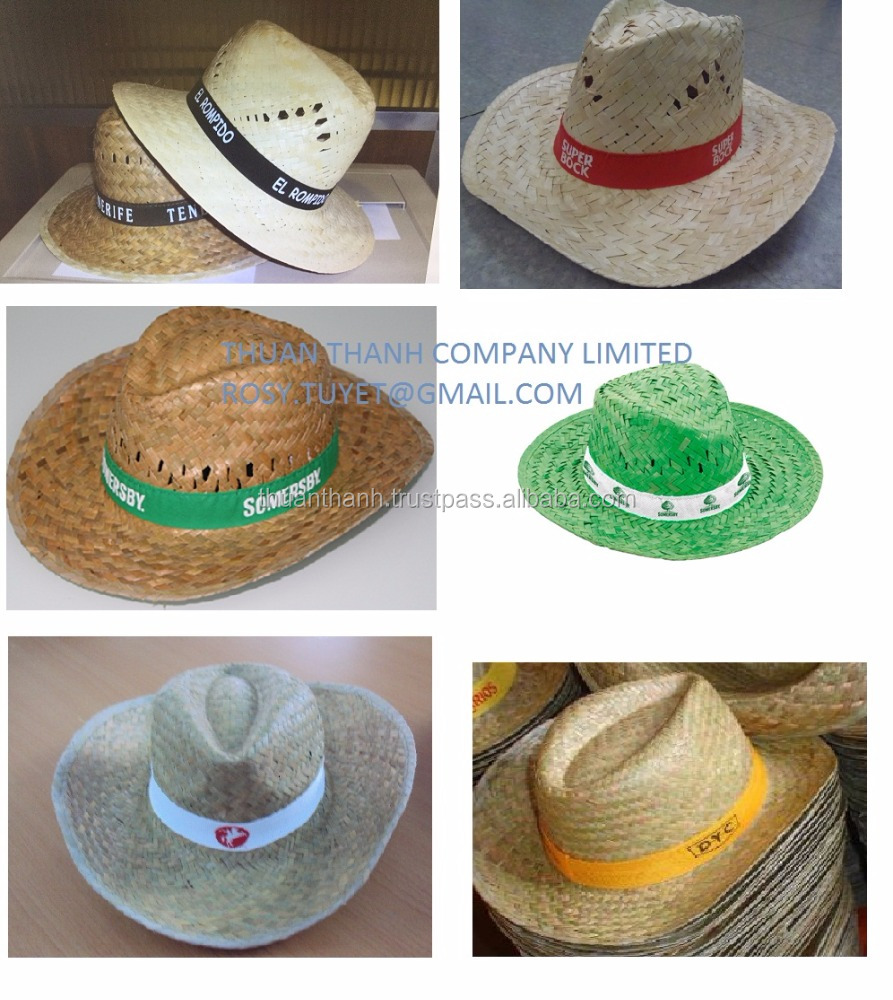 Fashion cheap new design promotional straw hats