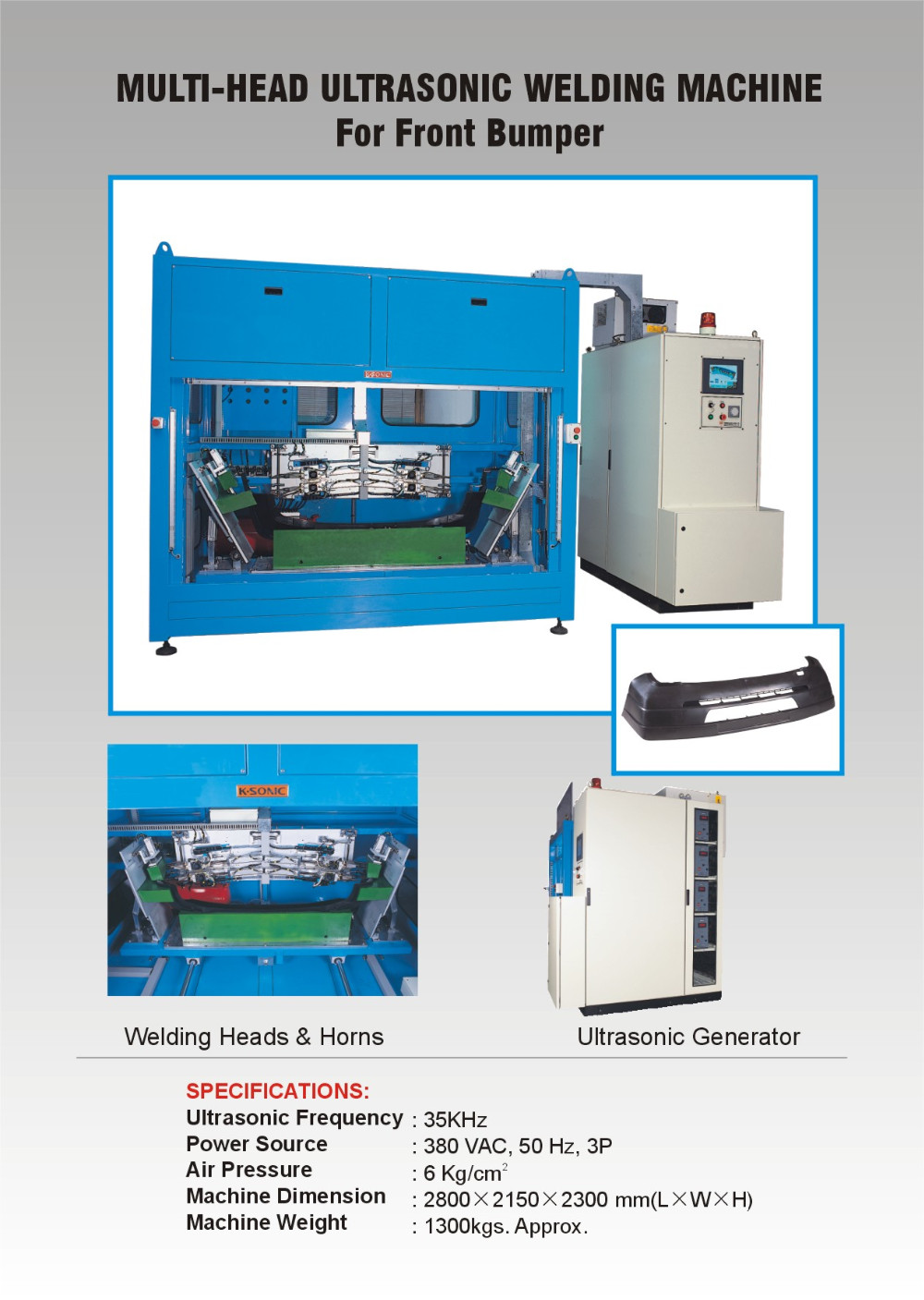 Multi Head Ultrasonic Welding Machine Buy Multi Head
