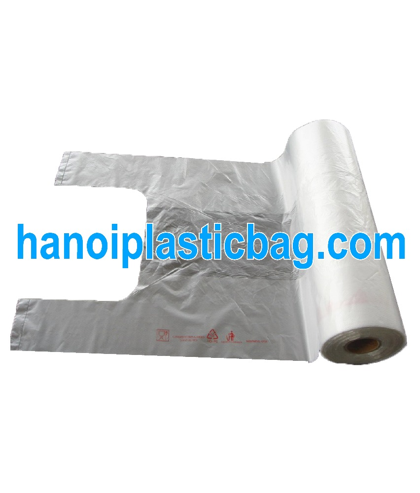 transparent fruit bag on roll 7 micron with embossing