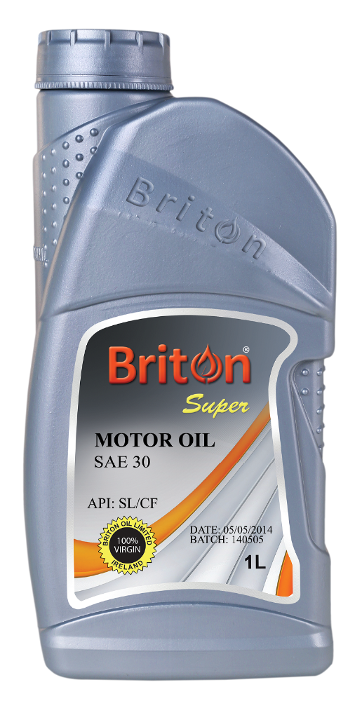 Briton Petrol Engine Oil, Virgin Super Oil, SAE30