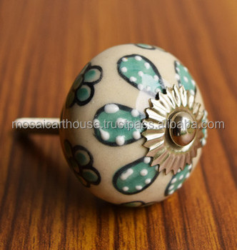 Shabby Chic Ceramic Door Knobs For Refurbished Furniture