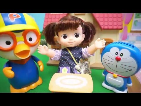 Pororo and Kongsunyi Refrigerator bakery pans toy play - Kids Video Children