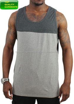 2364d86805f13 Mens Boys Trendy Tank Top Plain Sando Workout Two Colors Gray Sleeveless  Logo Casual High Quality
