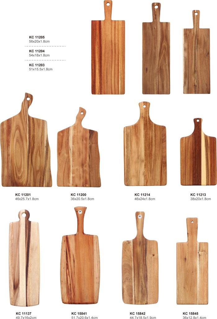 Chinese manufacturers Rectangle Acacia Wood Cheese Cutting Board