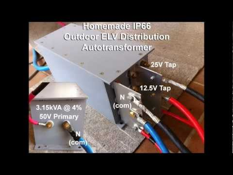 Homemade Outdoor Extra Low Voltage 50V/24V/12V 3.15kVA Transformer