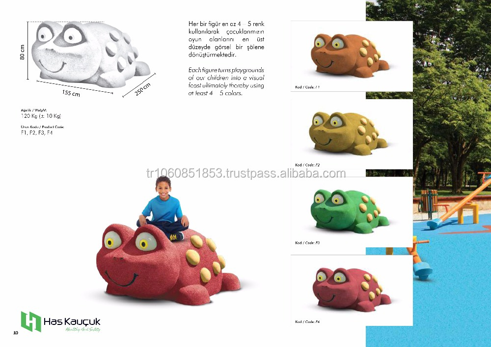 3D ANIMALS FOR PLAYGROUNDS FROG (FROGGY)