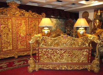Royal Office Furniture From Bali With Goldleaves Gems