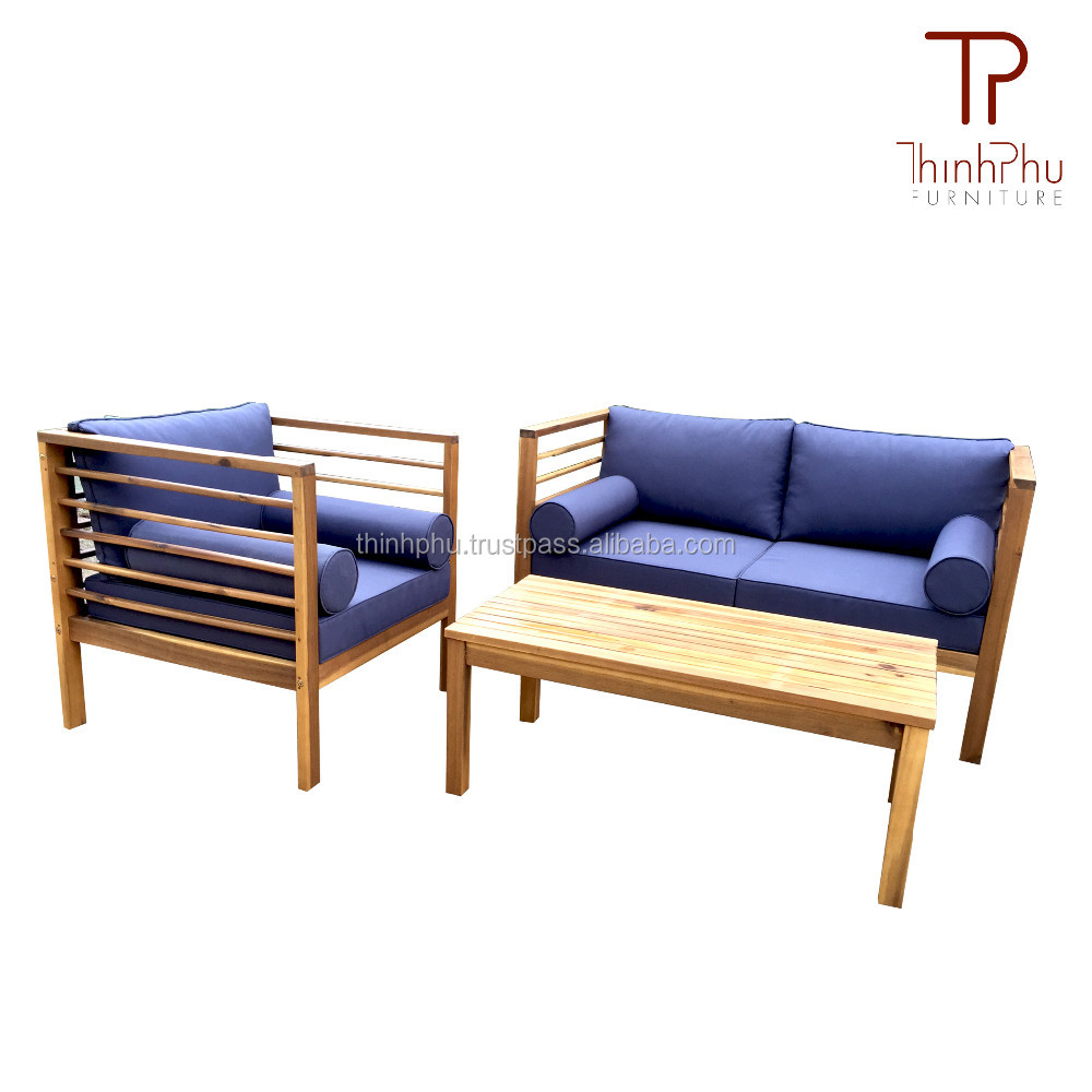 Eurona - Wood Sofa Set - High Quality Acacia Garden