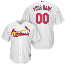 Men's St. Louis Cardinals Majestic Cream Alternate Cool Base Custom Jersey