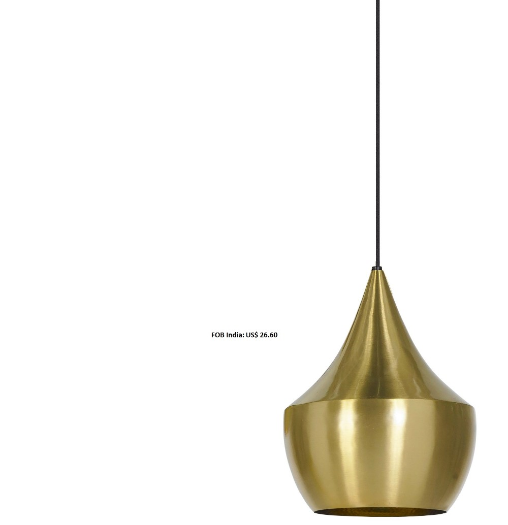 hammered gold european hanging pendant light suspension dome