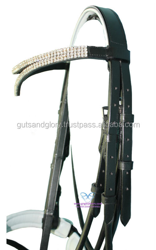 Diamante Padded Leather Bridle