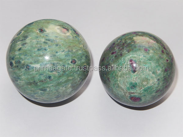 Latset Ruby Fuchsite Spheres/Balls for Metaphysical Healing and Decorations Purposes | Prime Agate Exports | India