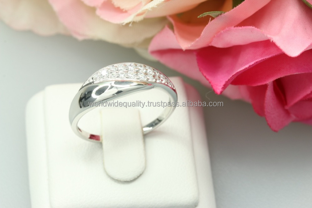 Super shiny ring 925 anillo de plata silber schmuck 925 accessories for women