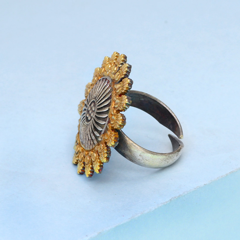 jewelry adjustable traditional itm rings par gold finger ring imrb indian tone designer