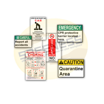 Healthcare Safety Signs Sql-sgn-ss-hss-024