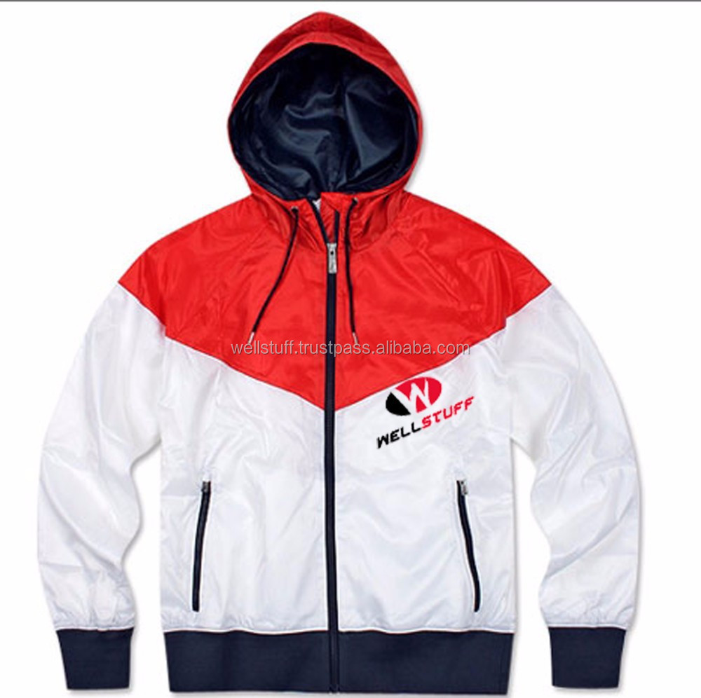 Hooded Sports Jackets / Mens Windbreaker Jackets With Hood ...