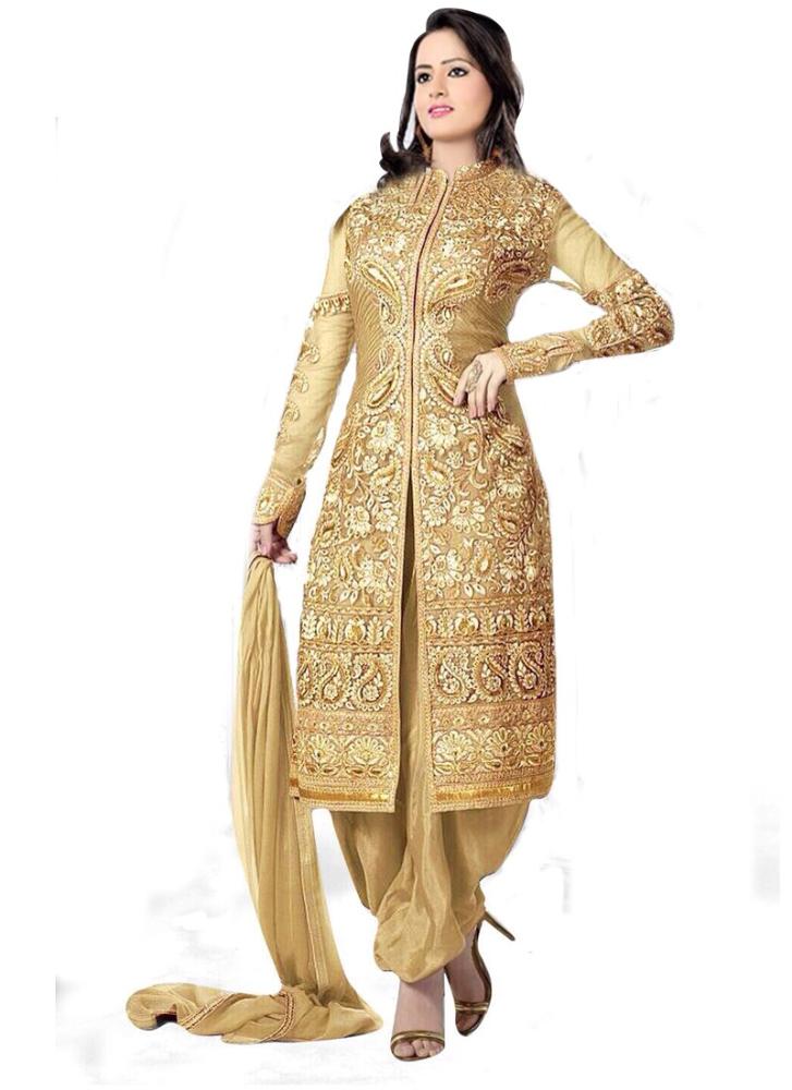 Uttam Vastra Designer Cream Salwar Suit - Buy Ladies Salwar Suit ...
