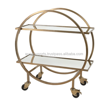 High Quality Wine Serving Carts With 2 Floor Elegant Design | Ease of Handle and Moving