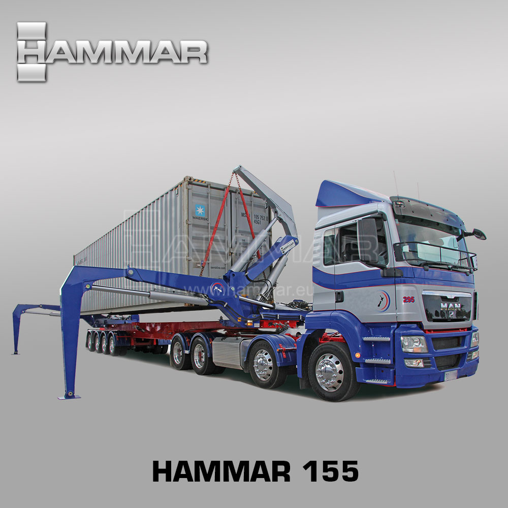 HAMMAR 155 (ORIGINAL) - container transfer, lifting and transport 20'-40' - sideloader/sidelifter