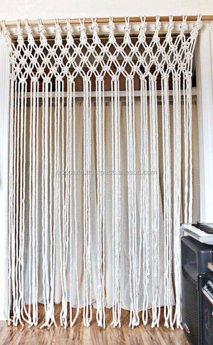 Cotton Macrame Rope Door Curtains Buy Macrame Curtain