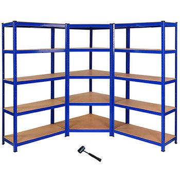 competitive price ed952 3dad8 1 X Corner Racking Garage Shelving 2 X 90cm Bays Metal Heavy Duty Mdf  Shelves - Buy Garage Racking Product on Alibaba.com