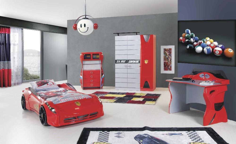 I Car Bed Co Araba Yatak Young Room Children Furniture Genc Odasi Mobilya Racing Model