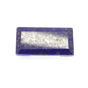 6x12mm Rectangle cut Loose Gemstone 3.2 Cts for Jewelry - Crystal and Mother of Pearl and Lapis Triplet