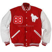 Beautifully embroidered with patches school letterman custom varsity jackets from PACE Sports