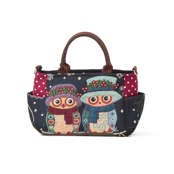 Beautiful Handmade Owl Diaper Bag With Thai Woven Fabric Product On Alibaba
