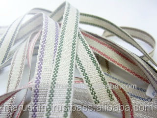 Comfortable and High quality 100% linen ribbon for ornaments