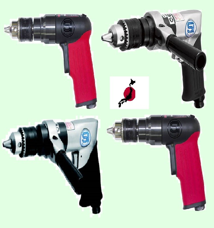 Japanese Powerful Air Drill Tool Made By Air Tool Motor