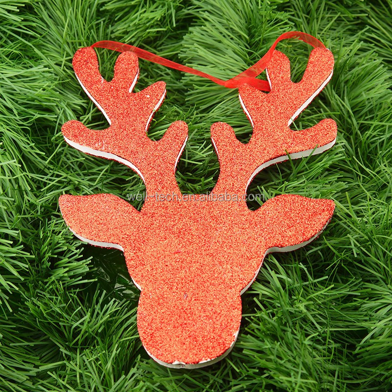 8 Quot Eva Deer Head Hanging Ornament Christmas Decorations