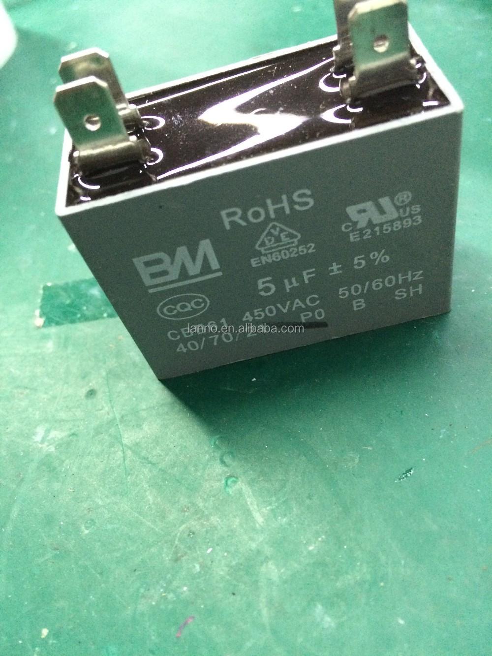 Cbb61 Motor Kapasitor Untuk Starting Dan Menjalankan Capasitor Kotak 25uf Kabel Penggunaan Fan