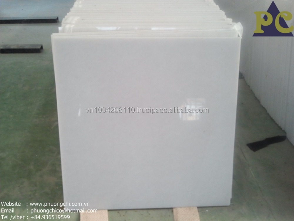 fine grain pure white marble tile