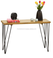 Natural Finish Solid wooden Console Table