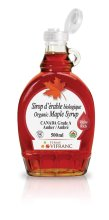Organic Maple Syrup, glass bottle, 500 ml, Canada Grade A Amber