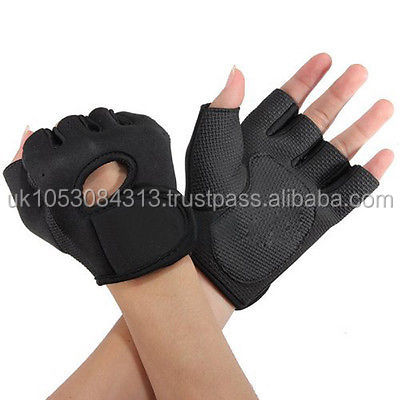 Work Out Gloves Women Weight Lifting Gym Sport Exercise Training Half Finger