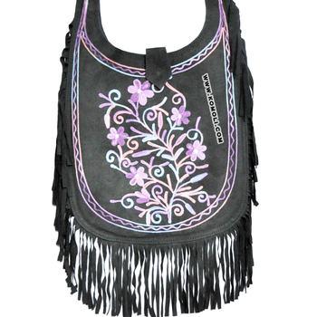 683c0c1ab Black Suede Fringe Bags Handmade Handbag - Buy Suede Bags ...